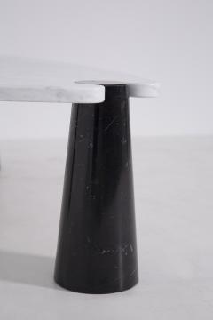 Angelo Mangiarotti Side table by Angelo Mangiarotti series Skipper in marble black and white label - 1606955