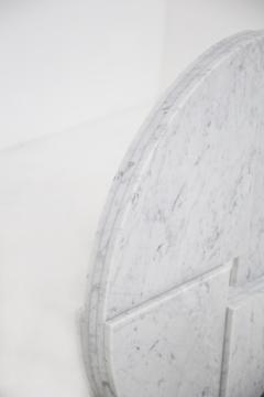 Angelo Mangiarotti White Carrara Marble sculpture by Angelo Mangiarotti for Skipper 1980s - 2047224