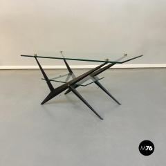 Angelo Ostuni Glass and iron coffee table by Angelo Ostuni 1950s - 1936033