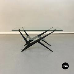 Angelo Ostuni Glass and iron coffee table by Angelo Ostuni 1950s - 1936034