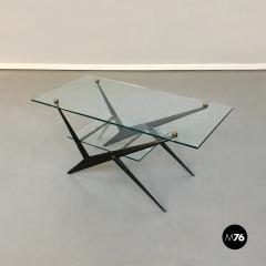 Angelo Ostuni Glass and iron coffee table by Angelo Ostuni 1950s - 1936038