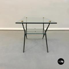 Angelo Ostuni Glass and iron coffee table by Angelo Ostuni 1950s - 1936064