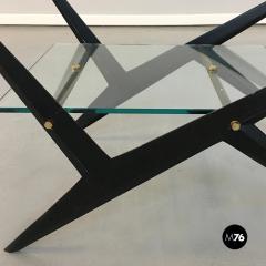 Angelo Ostuni Glass and iron coffee table by Angelo Ostuni 1950s - 1936068