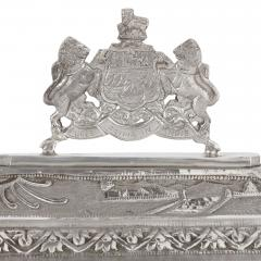 Anglo Indian Art Deco silver presentation casket - 1954704