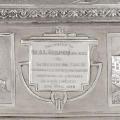Anglo Indian Art Deco silver presentation casket - 1954705
