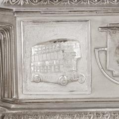 Anglo Indian Art Deco silver presentation casket - 1954710