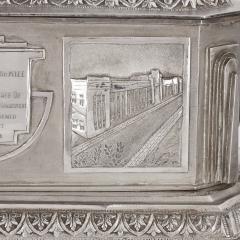 Anglo Indian Art Deco silver presentation casket - 1954713