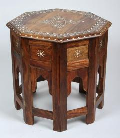 Delightful Anglo Indian Bone Inlaid Octagonal Side Table   357440