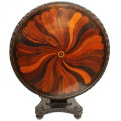 Anglo Indian Ceylonese Ebony and Specimen Wood Centre Table - 1924944