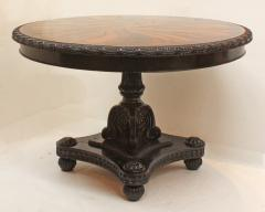 Anglo Indian Ceylonese Ebony and Specimen Wood Centre Table - 1924946