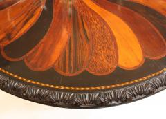 Anglo Indian Ceylonese Ebony and Specimen Wood Centre Table - 1924958