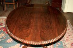 Anglo Indian Oval Rosewood Pedestal Table - 1465276