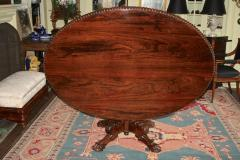 Anglo Indian Oval Rosewood Pedestal Table - 1465277