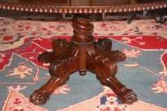 Anglo Indian Oval Rosewood Pedestal Table - 1465278