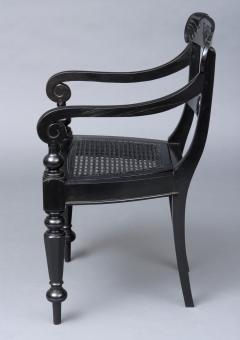 Anglo Indian Robustly Carved Ebony Armchair Circa 1840 - 120229