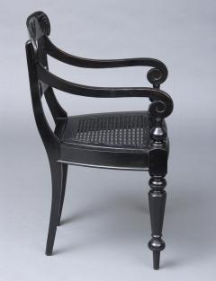 Anglo Indian Robustly Carved Ebony Armchair Circa 1840 - 120230