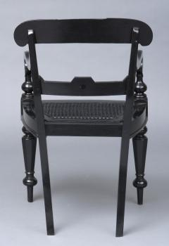 Anglo Indian Robustly Carved Ebony Armchair Circa 1840 - 120231