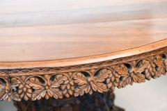 Anglo Indian Teak and Padouk Center Dining Table - 423817
