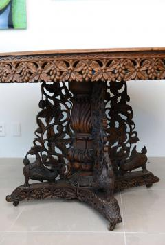 Anglo Indian Teak and Padouk Center Dining Table - 423819