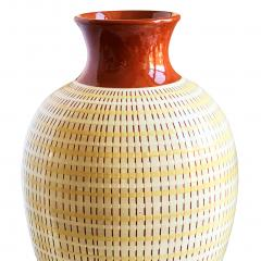 Anna Lisa Thomson Monumental Vase with Basket Weave Texture by Anna Lisa Thomson - 1236332