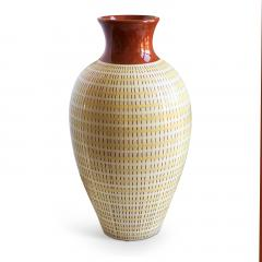 Anna Lisa Thomson Monumental Vase with Basket Weave Texture by Anna Lisa Thomson - 1236334