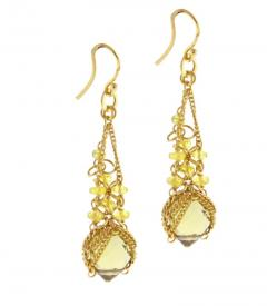 Anthony Nak Anthony Nak Citrine and Diamond Earrings - 458414