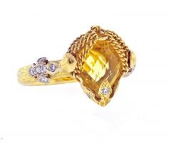 Anthony Nak Anthony Nak Citrine and Diamond Ring - 458402