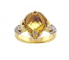 Anthony Nak Anthony Nak Citrine and Diamond Ring - 458403