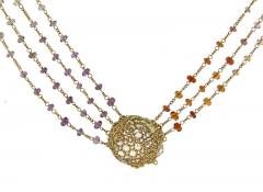 Anthony Nak Anthony Nak Lemon Citrine Multi Chain Necklace - 1018979