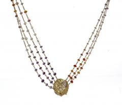 Anthony Nak Anthony Nak Lemon Citrine Multi Chain Necklace - 1018981