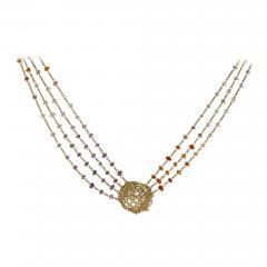 Anthony Nak Anthony Nak Lemon Citrine Multi Chain Necklace - 1019071