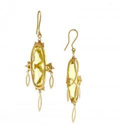 Anthony Nak Anthony Nak Prasiolite Gold Earrings - 458319