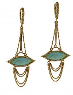 Anthony Nak Anthony Nak Turquoise Drop Earrings - 753168