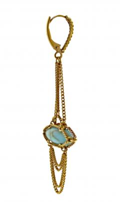 Anthony Nak Anthony Nak Turquoise Drop Earrings - 753170