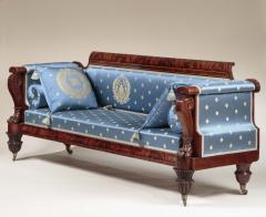 Anthony Quervelle Rosewood Inlaid Carved Mahogany Sofa - 750127