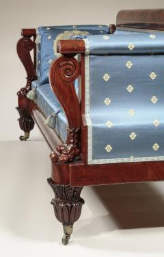 Anthony Quervelle Rosewood Inlaid Carved Mahogany Sofa - 750131