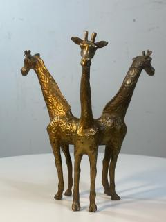 Anthony Redmile BRASS GIRAFFE AND OSTRICH EGG SCULPTURE IN THE MANNER OF ANTHONY REDMILE - 1851477