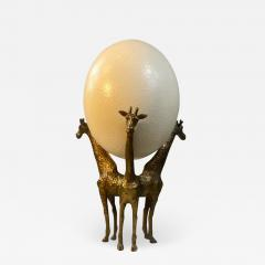 Anthony Redmile BRASS GIRAFFE AND OSTRICH EGG SCULPTURE IN THE MANNER OF ANTHONY REDMILE - 1853865