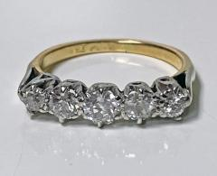 Antique 15 Karat Platinum Diamond Ring circa 1920 - 1925454