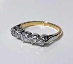Antique 15 Karat Platinum Diamond Ring circa 1920 - 1925456