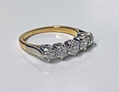 Antique 15 Karat Platinum Diamond Ring circa 1920 - 1925457