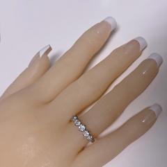 Antique 15 Karat Platinum Diamond Ring circa 1920 - 1925458