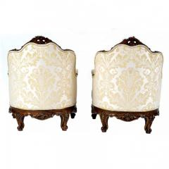 Antique 1880s Pair of Louis XV Style Carved Berg res italy - 173881