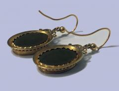 Antique 18K Pietra Dura Earrings C 1875 - 1177769