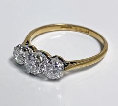 Antique 18K Platinum Diamond Ring C 1920  - 2150777