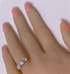 Antique 18K Platinum Diamond Ring C 1920  - 2150781