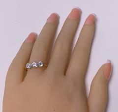 Antique 18K Platinum Diamond Ring C 1920  - 2150782