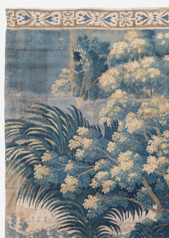 Antique 18th Century French Aubusson Landscape Tapestry with Palm Trees - 1831416