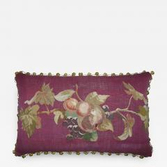Antique 18th Century French Tapestry Pillow 23 x 14 - 1188605