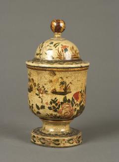 Antique 18th Century Venetian Lacquer Povera Container - 1301890